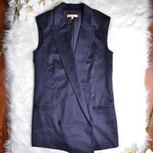 Michael Kors Long Vest 100% Cashmere Size 2 Womens